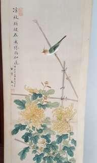 Chinese Painting. Hand Painted on Silk
