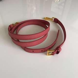 Authentic Prada Saffiano Leather Strap For Bags