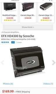 Scosche efx hd4300 amplifier 4 channel