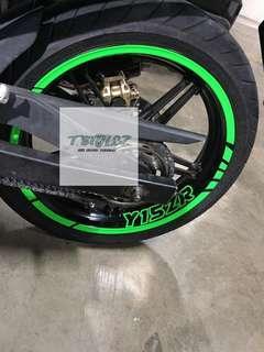 Custom decal for bike