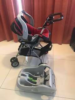 Further reduced! Baby Stroller & Car seat combo - Graco