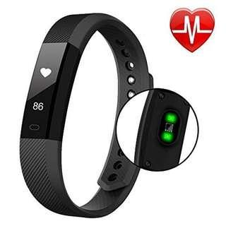 藍牙心率監測器智能手環健身追踪器步進計數器   Bluetooth Heart Rate Monitor Smart Bracelet Fitness Tracker Step Counter