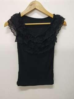 Black Tops/singlet with lace
