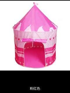 🚚 兒童遊戲帳篷公主風城堡帳篷可收納折疊