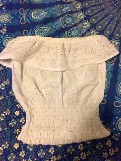 White boobtube top size S
