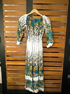 Traditional Chiffon Floral Printed Long Maxi Dress