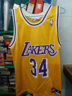 NBA 波衫 jersey Oneal 奥尼爾 湖人 Nike