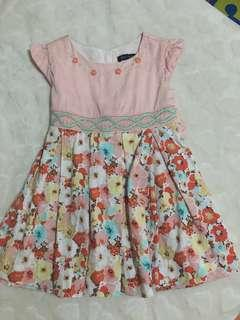 Preloved Baby Floral Dress + Free Shipping