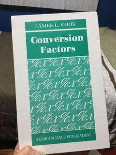 Conversion Factors by James L. Cook