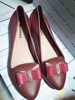 NEW Maroon Jelly Shoes No.38