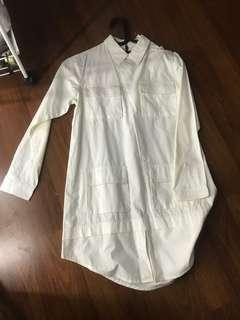Cotton ink white pocket dress