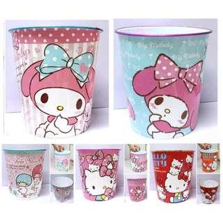My Melody Hello Kitty Little Twin Star Trash Can