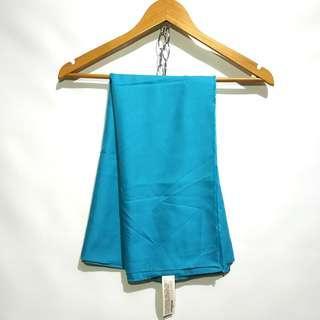 Blue Turquoise Silk Satin Hijab Pashmina