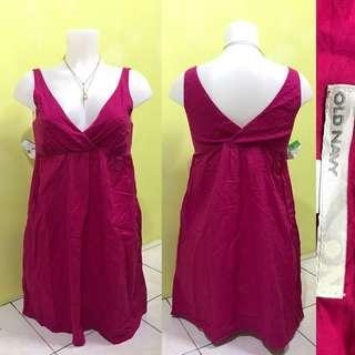 Pink plunging neckline dress