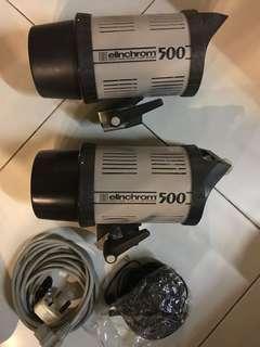 Elinchrom EL500 x 2 workhorse