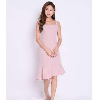 UMI RUFFLES MERMAID DRESS / Midi Dress / Asym Dress / TPZ / Shoplovet / Topazette