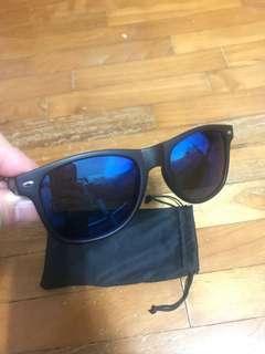 Korean blue mirror polarised Len sunglasses