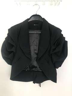 女裝黑色短褸短外套