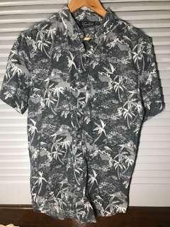 Cotton On dark hawaiian shirt