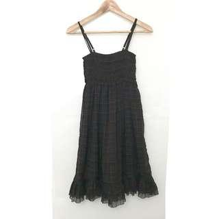 "Supply & Demand Ralph Lauren Women""s Spaghetti Plaid dress"