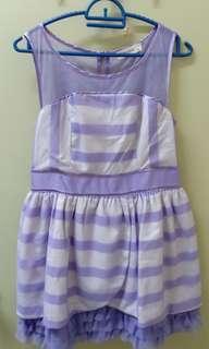Purple Cross Line Dress