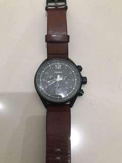 Preloved jam tangan pria fossil