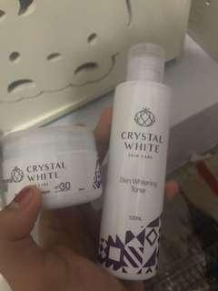 crystal white toner and whitening cream