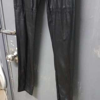 H&M High Waist Leather Legging