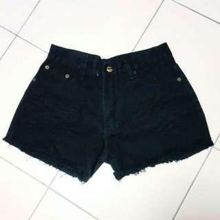 🚚 Black Denim HW Shorts