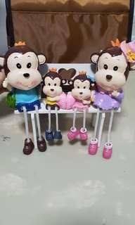 Ceramic Monkey Toy