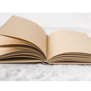 Timeless Series Hardcover Plain Notebook A6