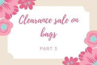📢Clearance sale on bags part 3‼️