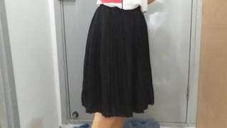雪紡黑色裙(長50cm)