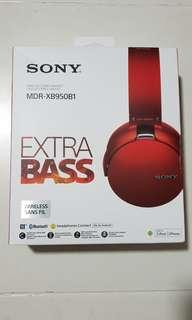 Sony Wireless EXTRA BASS Headset (Candy Red)