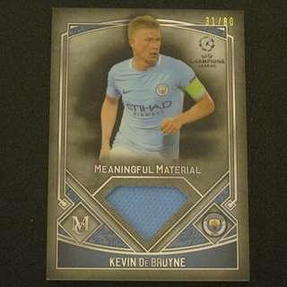 17/18 Topps UEFA Champions League Museum Meaningful Material #/80 - Kevin DE BRUYNE #Manchester City
