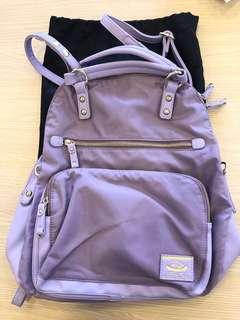 ANS 紫色 粉紫色 背包