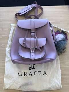 GRAFEA 紫色 真皮背包