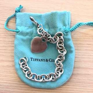 Tiffany Necklace 純銀手鏈 心形