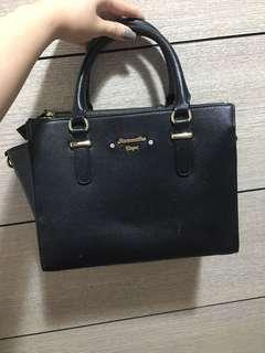 Samantha Vega Black Convertible Bag
