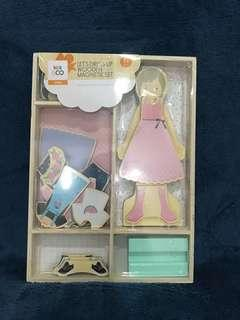 Let's Dress Up Wooden Magnetic Set