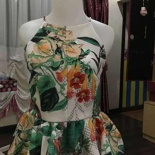MDS party peplum dress