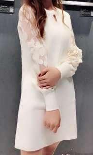 全新棉質蕾絲洋裝
