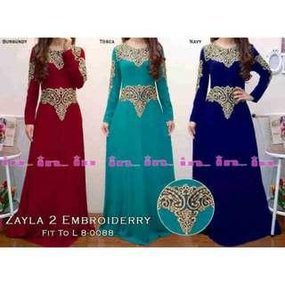 Zayla Maxi Dress Cantik,warna Navy.REAL PICT