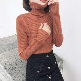 高領貼身毛衣