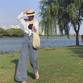 🚚 現貨🌟類似款高腰寬褲