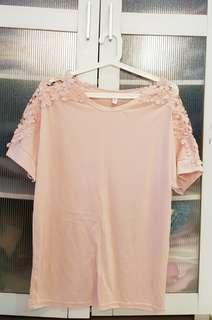 Pink Lacy Top