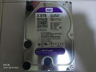 "WD Purple 2TB 3.5"" Desktop SATA Hard disk"