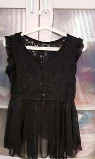 Black Lacy Sleeveless