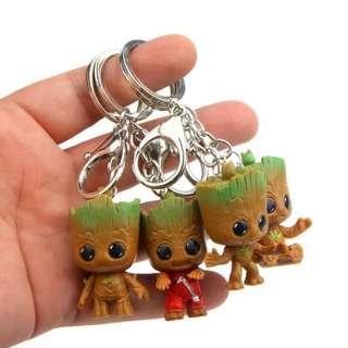 Marvel Avengers Baby Groot Cosbaby Pop Keychain Gantungan Kunci Tas Chibi Mini
