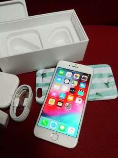 Open line Iphone 6 128gb silver good condition no scratch mo drop no repair